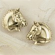 Gold Dressage Horse Earrings