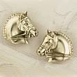 Gold Dressage Horse Earrings