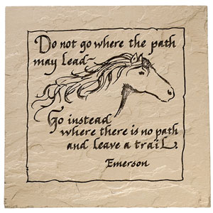 Horse Plaque - Emerson Saying